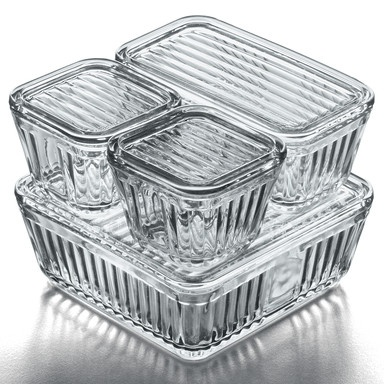 getting rid of plastic. these glass containers are just beautiful but €80 is something i can't afford.