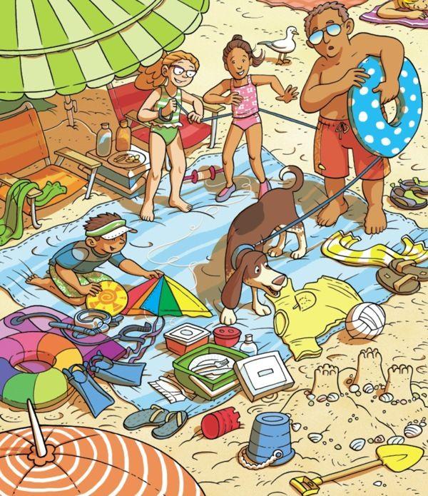 Descripción de imágenes - Playa