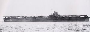 """""""UNRYU"""" - Was a (745.11') Japanese Unryu Class Fleet Carrier – Commissioned 6 August 6 1944 - Seen Departing Yokosuka, 16 July 1944 – Was Sunk, 19 December 1944, in the East China Sea by US Submarine """"USS REDFISH"""" - Casualties Were Very Heavy with 1,238 Officers, Crewmen and Passengers Losing Their Lives. Only 145 Men Survived to be Rescued by """"SHIGURE"""", which Returned to Sasebo, Nagasaki on 22 December 1944"""