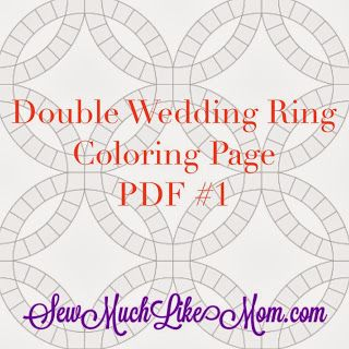 Sew Much Like Mom: Double Wedding Ring Quilt Along: Coloring Page