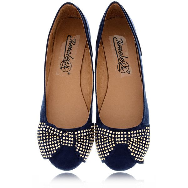 TIMELESS LILIANA Navy Suede Ballerinas (695 ARS) ❤ liked on Polyvore featuring shoes, flats, ballet flats, navy blue flats, flat shoes, navy ballet flats and navy blue flat shoes