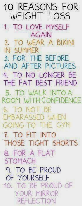 10 reasons to lose weight! Oh this is so me. I agree with every single reason. Lose weig