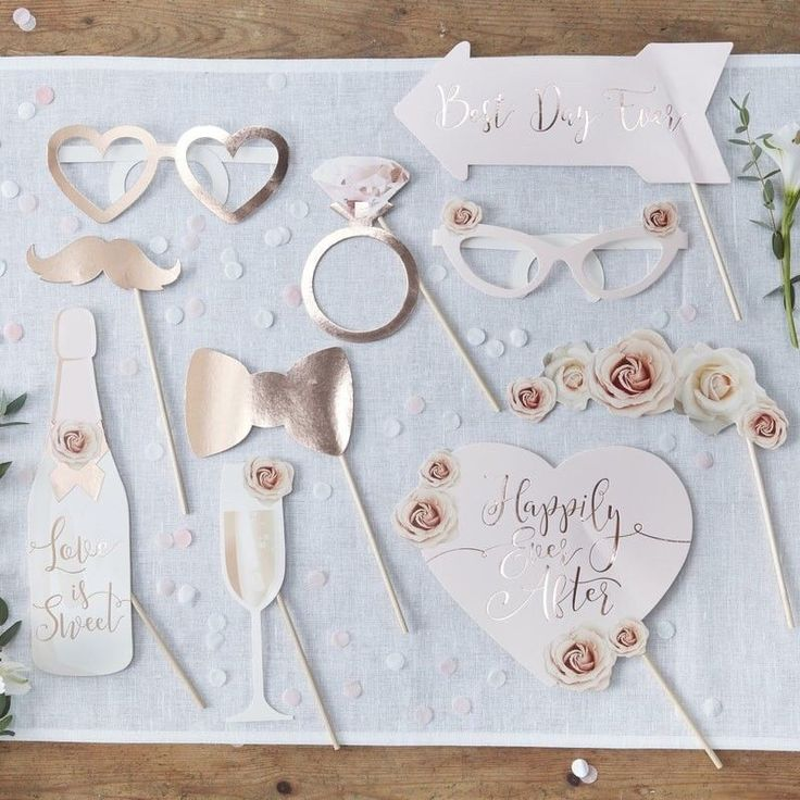 Make your wedding day fun by capturing unforgettable moments with our Photo Booth Props pack Create your own range of photographs while posing with