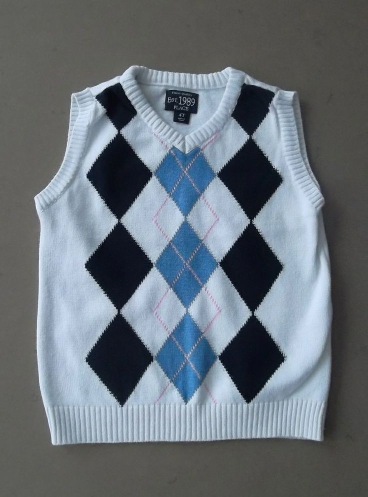 It's a perfect match!  Eco Outfitters Online - This argyle sweater vest has a subtle pink stripe that makes if a perfect match for our size 4 pink polo shirt!  See the boys size 4 boutique today!  (http://www.ecooutfittersonline.ca/childrens-place-argyle-sweater-vest-white-navy-blue-pink-size-4t/)