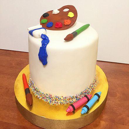 Torta Artista / Artist Cake . Art, paint, sprinkles, sugar modeling