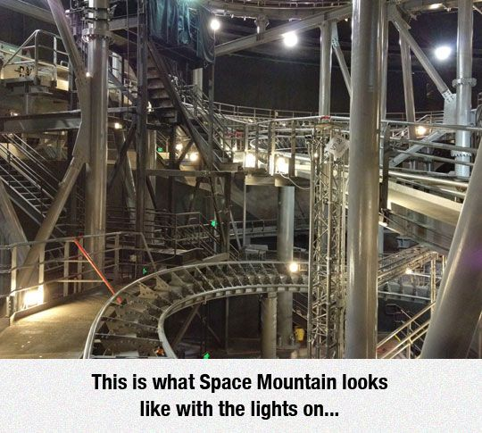 Whoa.  I have friends who are big fans of looking backwards on the rides at Disney World.  I hear tell they've seen some odd things.....