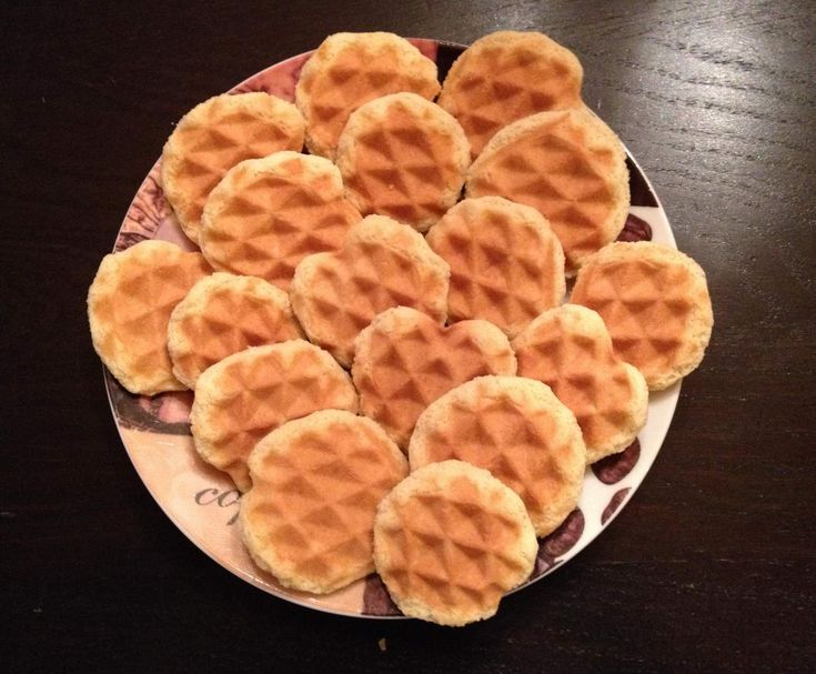 Rezept Waffelplätzchen Waffelkekse von keho82 - Rezept der Kategorie Backen süß