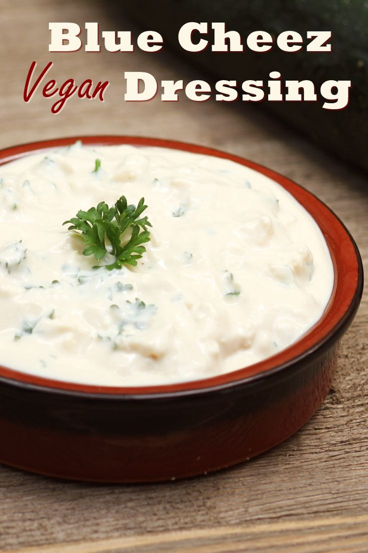 Vegan Blue Cheese Dressing Recipe - the wholesome dairy-free Blue Cheez Dressing from PlantPure Kitchen by Kim Campbell