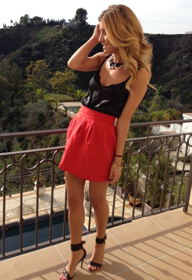 Michael Stars Tanks Zara Skirts and Mango Heels / Wedges | Style Inspiration | Pinterest ...