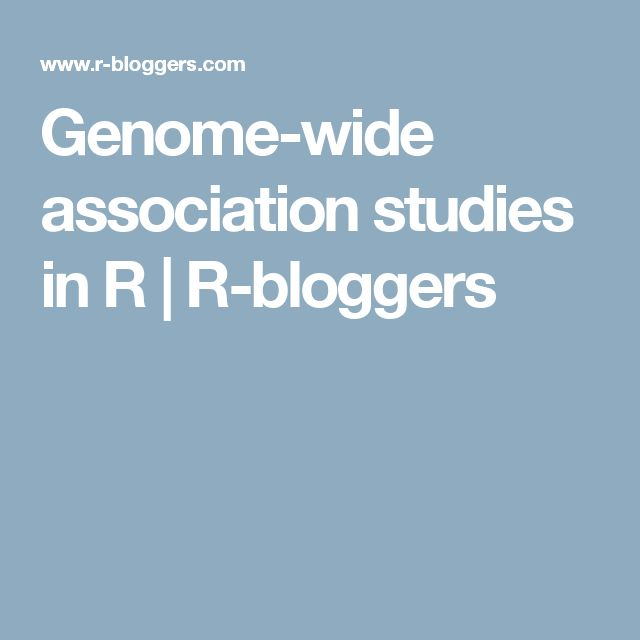 Genome-wide association studies in R   R-bloggers