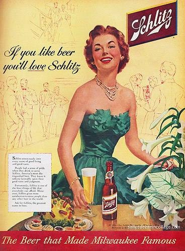 Schlitz Beer | Vintage food & drink poster | Retro advert #Vintage #Posters #Affiches #Food #Drinks #Carteles #deFharo #Ads