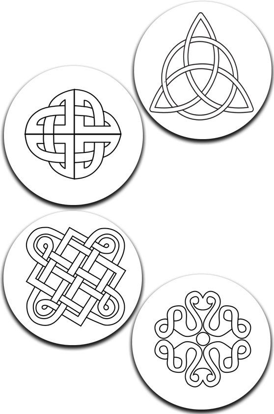 A pack of 4 celtic knots Pattern weights I deal for weighing down patterns on delicate fabrics no need for pins like TV sewing Bee by RICEMETALS on Etsy