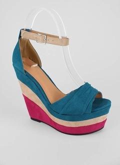 suede contrast wedge: Contrast Wedge, Heart Shoes, Shoe Freak
