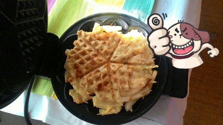 How to make Okonomiyaki Waffle