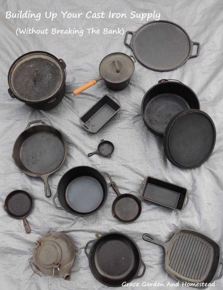 Cast iron is like gold to the outdoorsman or homesteader. But, it can cost a mint to get the collection you want too. Here's how to build up your supply without breaking the bank.