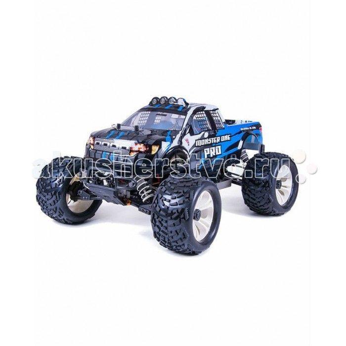 Pilotage Радиоуправляемая автомодель 1:10 Monster One Pro EP 4WD электро RTR  Pilotage Радиоуправляемая автомодель 1:10 Monster One Pro EP 4WD электро RTR с бесколлеколлекторным электродвигателем.  Pilotage  Monster ONE PRO RTR - машина для тех, кто хочет иметь максимальную мощность в сочетании с высокой производительностью и прочностью, чтобы покорять трассы бездорожья! Детали шасси модели выполнены из эластичного прочного пластика, который выдерживает огромные нагрузки во время прыжков и…