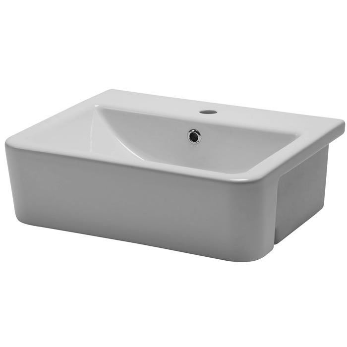 Roper Rhodes Geo 515mm Semi-Countertop Basin G3SCBAS - G3SCBAS Roper Rhodes Geo 515mm Semi-Countertop Basin G3SCBAS - G3SCBAS Standard semi-countertop basin for use with standard depth semi-countertop base units. Single taphole and overflow. Minimum furniture depth 320mm. Manufactured from fine fire clay and featuring a thin geometric rim and generous bowl area. Supplied with cutting template for worktop and fascia. A simple and practical semi-countertop basin for use with our…