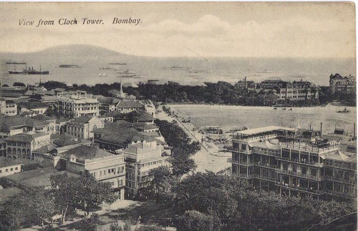 Vintage Bombay:1910- Bombay Harbour view from Rajabai Clock Tower. Watson's Hotel is also seen. #Mumbai #OldBombay pic.twitter.com/oa0d4kznh3