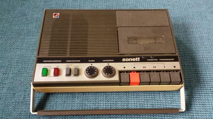 Gebraucht Sonett Tonbandgerät Kassettenrecorder DDR in Schönheide um € 20,00 –…