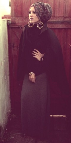 hijab style.  Beautiful!