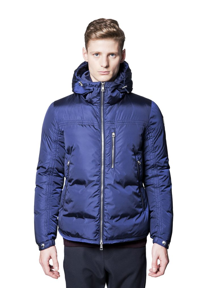 Moncler - Fall Winter 2014 - Menswear // Blue Gary Jacket Coat In Down And Feathers
