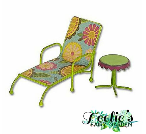 1141 best teelie 39 s fairy garden images on pinterest for Breezy beach chaise