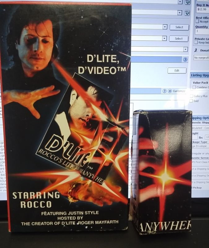 D Lite Rocco Lite from Anywhere Magic Trick Roger Mayfarth with video tape lot Please check out all our rare value priced Magic tricks & Books at: http://stores.ebay.com/webrummage