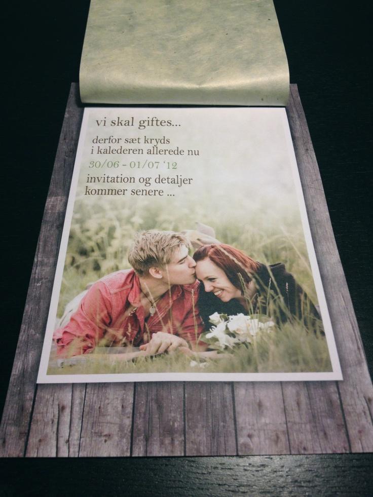 """Save the Date"" card  #wedding #Savethedate"