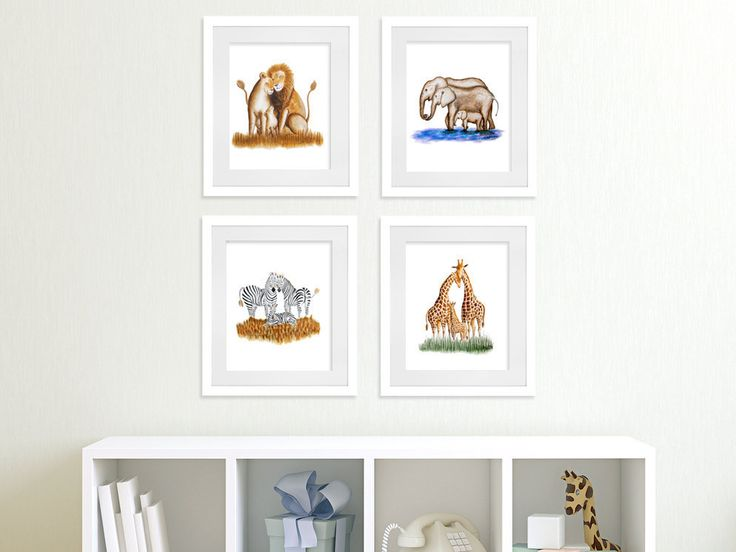 New to TinyToesDesign on Etsy: Safari Art Prints Nursery Wall Art Jungle Art Set Animal Art Lions Giraffe Art Elephant Art Zebras Baby Room Decor Giclee Print (54.00 USD) #nurseryart #tombowpro