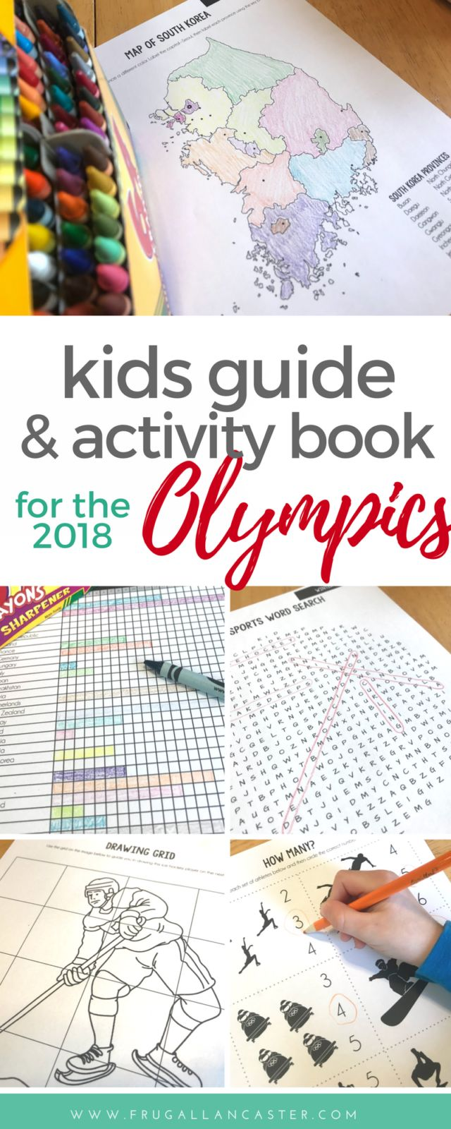 2018 Winter Olympics: A Complete Kids Guide and Activity Book for PyeongChang Winter Olympics - graph the winning medals, create athlete bio sheets, draw your own mascot, design a medal, and play winter games activities like word searches, cross words and math problems!