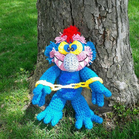 Crocheted My Pet Monster Plush Amigurumi Stuffed Animal