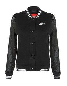 Nike Varsity Jacket - Black / White