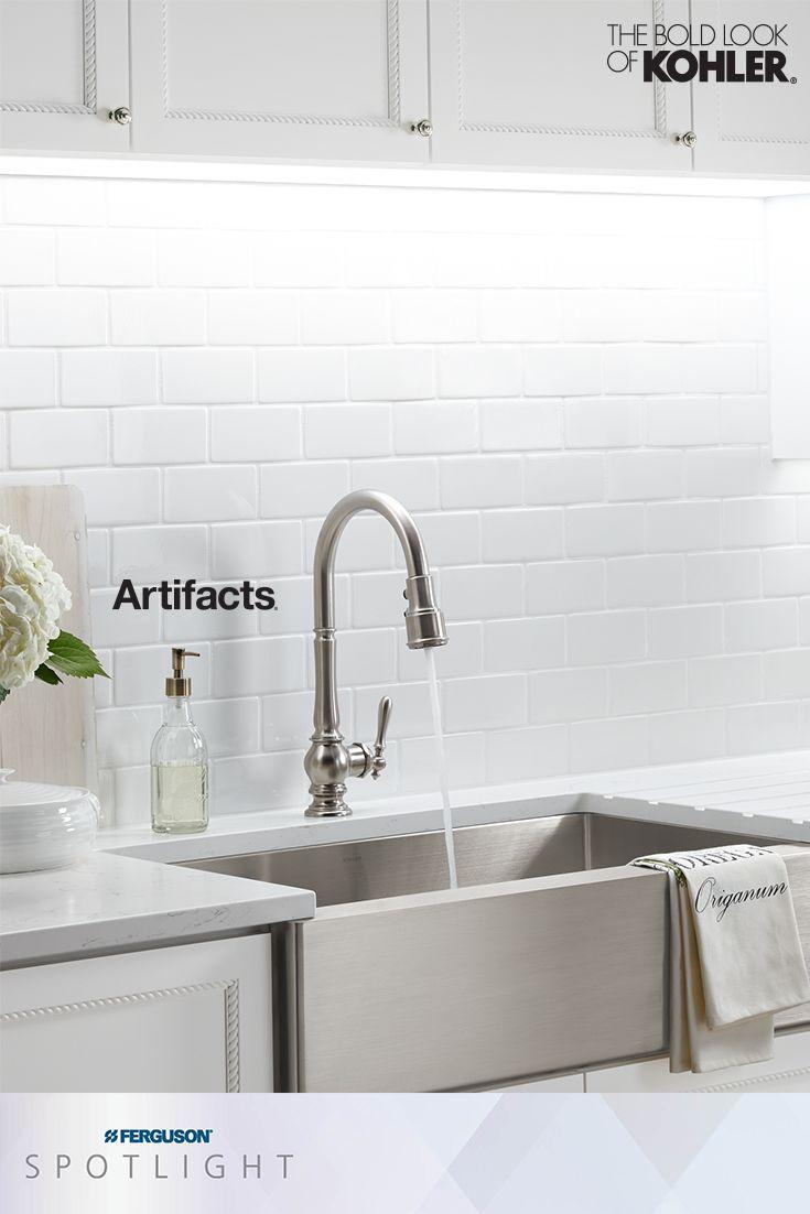 Kohler Artifacts Kitchen Sink Faucets Spotlight Kitchen Faucet