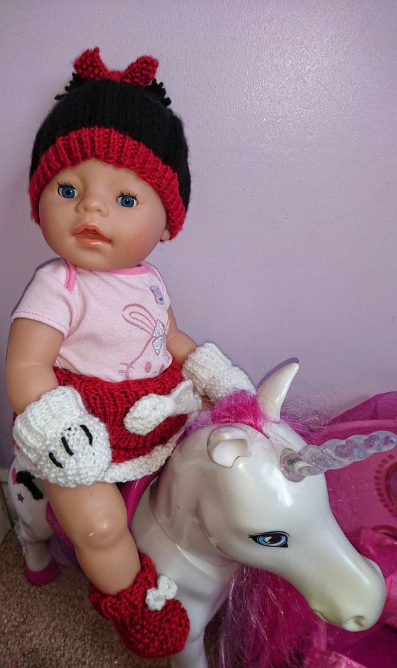 Baby Born Minnie Mouse Clothes  Stocking Filler  by TheWoolLadyUK