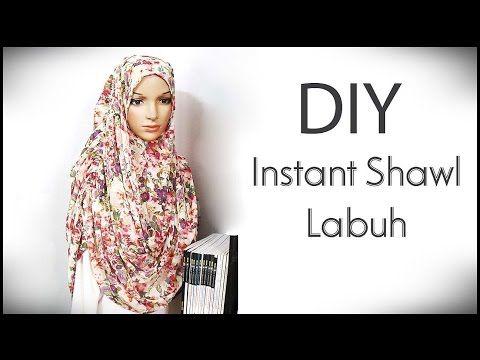 DIY: Menjahit Instant Shawl Labuh Sendiri - YouTube