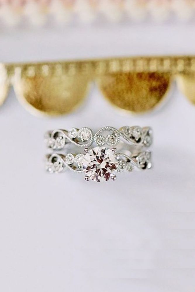 21 Budget-Friendly Engagement Rings Under $1,000 ❤️ cheap wedding rings round cut siver vintage kirkkara ❤️ See more: http://www.weddingforward.com/cheap-engagement-rings/ #weddingforward #wedding #bride
