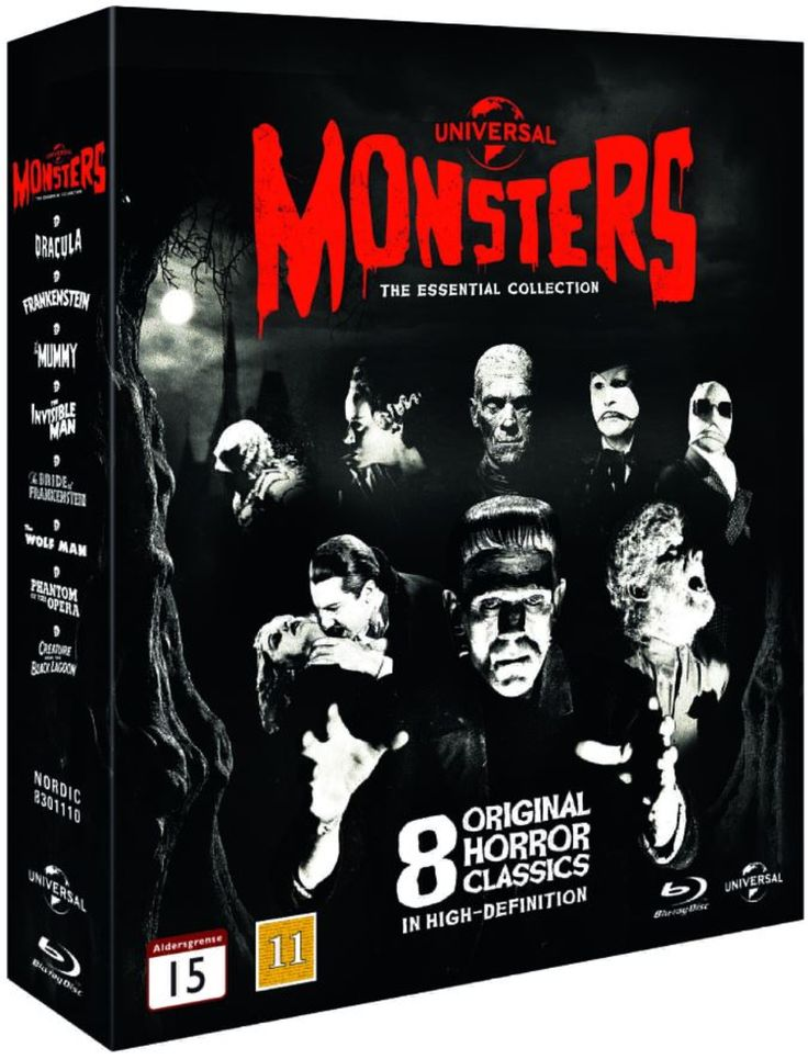 24,95e Universal Monsters - The Essential Collection (Blu-ray) (8 disc)