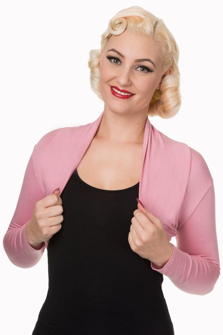 Bolero Banned Pink XS Krátké bolerko v růžové barvě, které lze využít jako doplněk nejen k šatům, ale také sukním s topem. Pro chladnější rána či večery nebo pro dámy, které si chtějí zakrýt ramena či paže. Příjemný materiál podobný hladkému, slabému úpletu (95% viskóza, 5% elastan) se dobře podá Vašemu tělu.