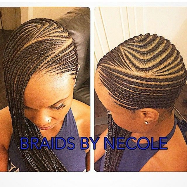75 Super Hot Black Braided Hairstyles To Wear-Neat small cornrows to the side