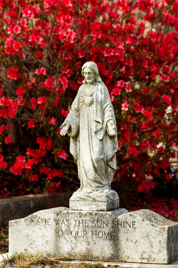 Bonaventure Cemetery is full of historic headstones and gorgeous Spanish moss. During springtime, Bonaventure becomes a wonderland vibrant with azaleas.