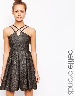 Enlarge Girls On Film Petite Metallic Prom Dress