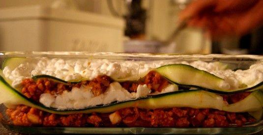 Supersunn lasagne, cottage cheese og squash (Norwegian)