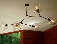 リンゼイadelman地球儀分岐110v220vバブルのシャンデリア現代的なシャンデリアの光ヘッド照明6+free送料!(China (Mainland))