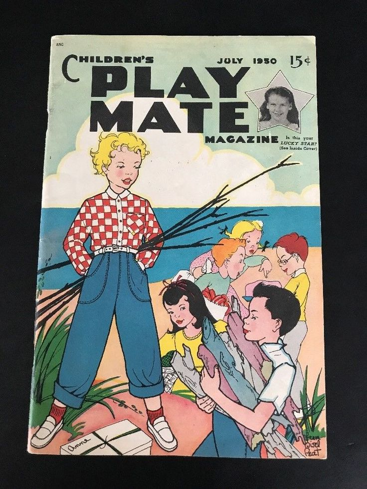 July 1950 Childrens Play Mate Magazine  Dress Your Own Doll Center Cut-outs