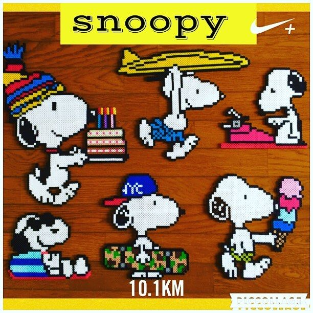 Snoopy perler beads by yo_si516