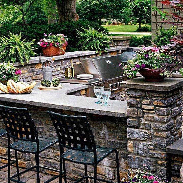 Awesome Outdoor Bar and Grill Sets