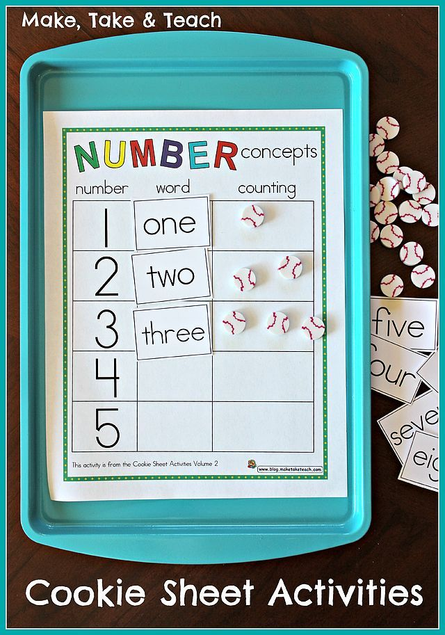 Cookie Sheet Activities Pre K- K Bundle- Early Literacy and Numeracy Activities | Make, Take & Teach | Bloglovin'