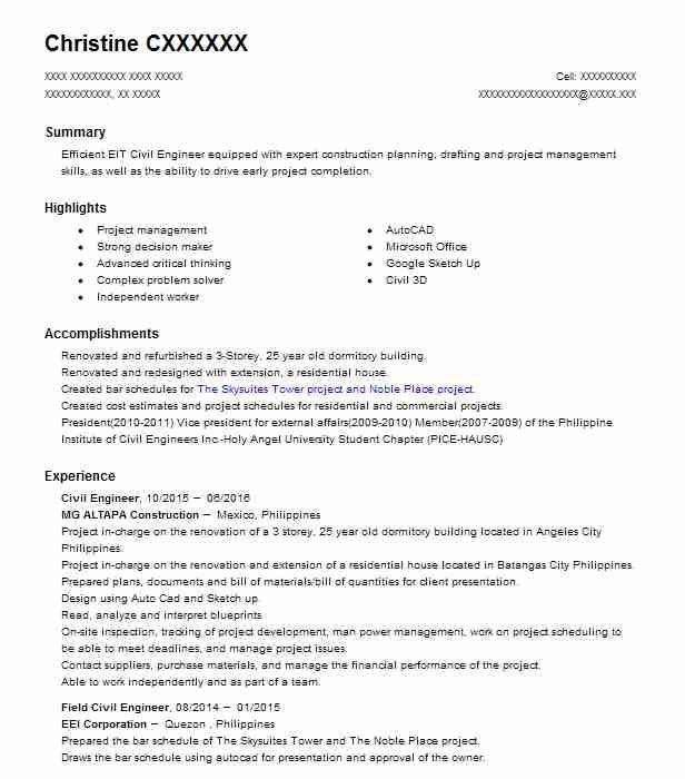 achievements civil engineer resume  best resume examples