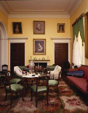 Arlington House ~ Arlington National Cemetery ~ Arlington ~ Virginia ~ The Living Room in the Arlington House, the former home of General Robert E. Lee.