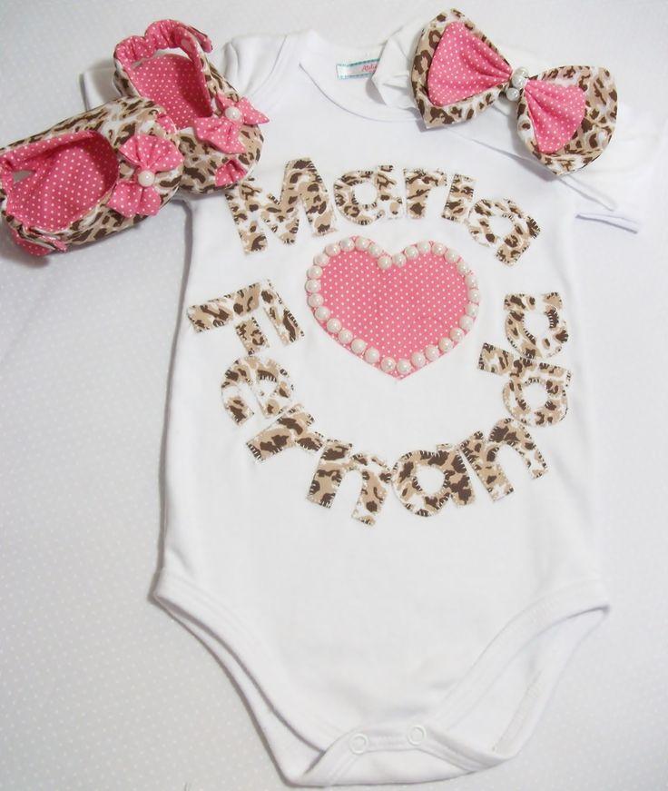Kit body Oncinha baby  Trabalho artesanal, e personalizado.  Fazemos em outros nomes e estampas!!!  Confeccionamos nos tamanhos até EX (1ano)  Consulte disponibilidade de tamanhos e estampas.